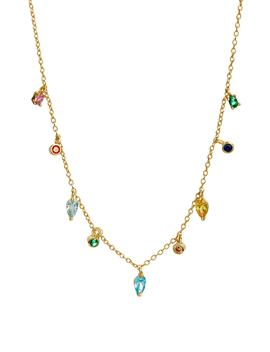Rainbow Drop Necklace by Argento Vivo