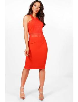Panelled Midi Dress by Boohoo