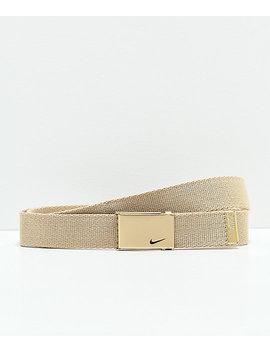 Nike Metallic Gold Web Belt by Nike Sb