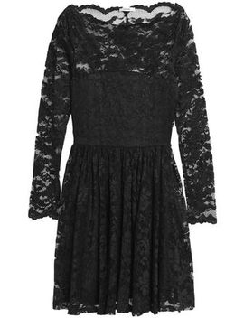 Pleated Lace Dress by Ganni