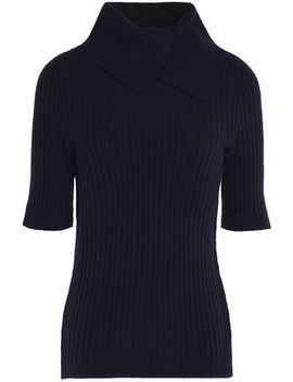 Ribbed Merino Wool Blend Turtleneck Sweater by Ganni