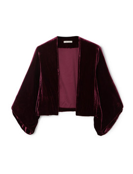 Donnie Velvet Jacket by Alice + Olivia