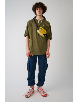 Oversized T Shirt Khaki Green by Acne Studios