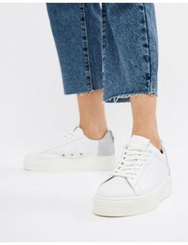 All Saints Cherry Leather And Suede Sneaker by All Saints