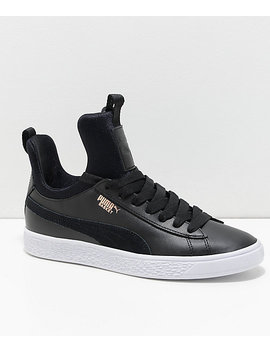 Puma Basket Fierce Black & White Shoes by Puma