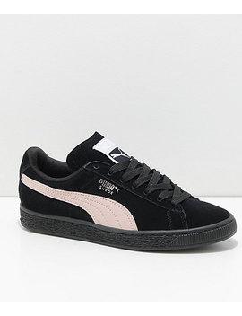 Puma Suede Classic+ Black & Pearl Shoes by Puma