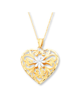 Heart Necklace 10 K Two Tone Gold by Kay Jewelers