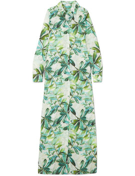 Christina Printed Cotton Voile Maxi Dress by Eywasouls Malibu
