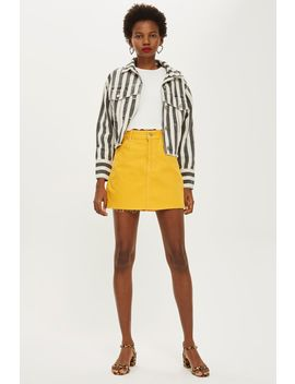 Mustard Denim Skirt by Topshop