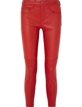The Stiletto Leather Skinny Pants by Current/Elliott