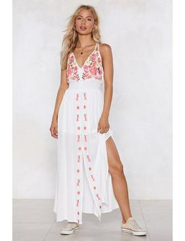 Say It Ain't Sew Embroidered Dress by Nasty Gal