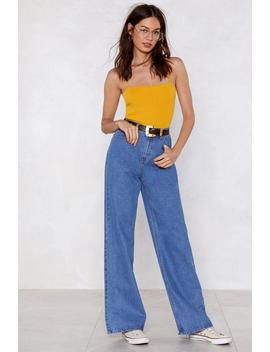 Take One Giant Step Wide Leg Jeans by Nasty Gal