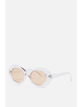 Pixie Oval Sunglasses by Topshop
