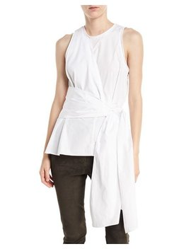 Twist Front Sleeveless Cotton Poplin Top by 3.1 Phillip Lim