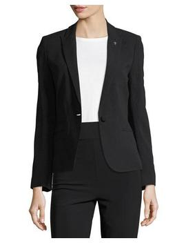 Vedy Single Button Crepe Blazer by Zadig & Voltaire
