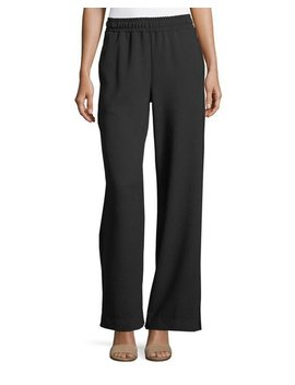 Wide Leg Pull On Crepe Pants by See By Chloe