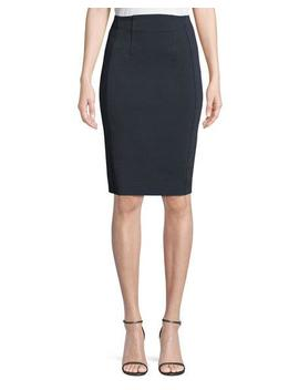 High Waist Fitted Pencil Skirt by Diane Von Furstenberg