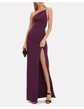 Petch Aubergine Gown by Solace London