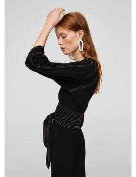 Combinaison à Coutures Contrastantes by Mango
