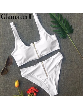 Glamaker Summer Sexy Deep V Neck Bodysuit Women Two Piece Suit Push Up Bodysuit Female White Holiday Party Body Suit Femme 2018 by Glamaker