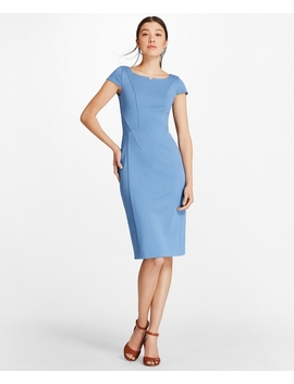 Ponte Knit Cap Sleeve Sheath Dress by Brooks Brothers