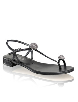 Flat Jewelled Sandal by Fireballs