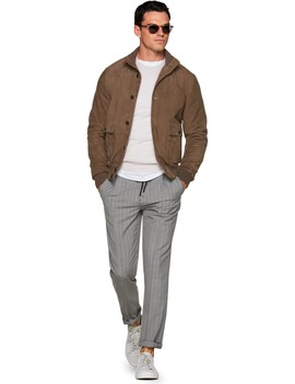 Brown Bomber Jacket by Suitsupply