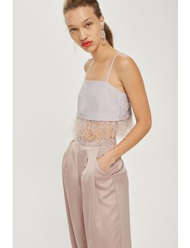 Feather Hem Camisole Top by Topshop
