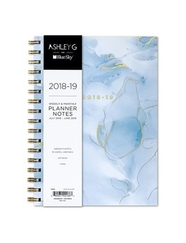 "2018 19 Academic Planner 5.8"" X 8.6"" Blue Watercolor   Blue Sky by Blue Sky"