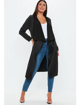 Curve Black Waterfall Jacket by Missguided