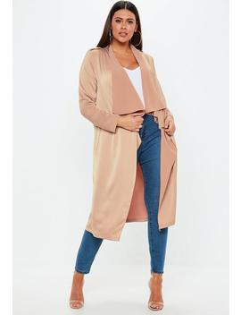 Curve Nude Waterfall Jacket by Missguided