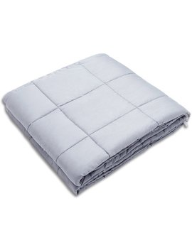 """Amy Garden Weighted Blanket For Anxiety, Adhd, Autism, Insomnia Or Stress   Premium Various Weighted Blankets For Great Sleep (48""""X72"""", 15 Lbs For 140 150 Lbs Individual, Light Grey) by Amy Garden"""