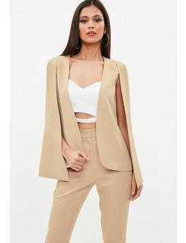 Nude Cape Blazer by Missguided