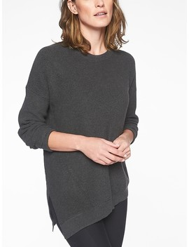 Rest Day Asym Crewneck Sweater by Athleta