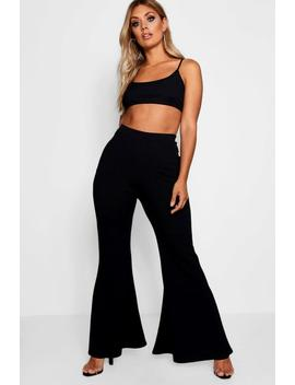 Plus Crepe Flared Trouser by Boohoo
