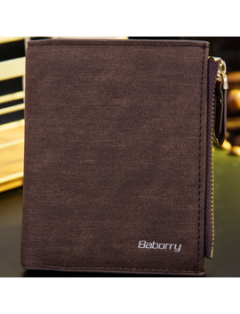 Baborry Vintage Leather Wallet Rfid Blocking Men's Purse Bifold Zipper Coin Bag by Unbranded