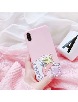 Fashion Lovley Sailor Moon Soft Phone Case Back Cover For Iphone X/6/6 S/7/8 Plus by Unbranded/Generic