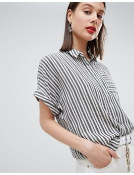 Esprit Striped Oversized Short Sleeve Blouse by Esprit