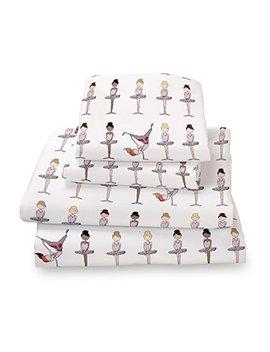 Where The Polka Dots Roam Twin Pink Ballerina Sheet Set For Girls Bedding  Double Brushed Ultra Microfiber Twin Size Set By by Where The Polka Dots Roam