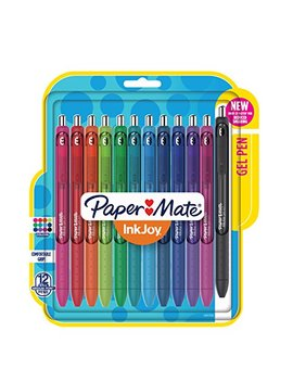 Paper Mate Ink Joy Gel Pens, Medium Point, Assorted Colors, 12 Count by Paper Mate