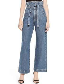 Paperbag Wide Leg Jeans by Bardot