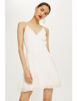 Godet Sequin Slip Dress by Topshop