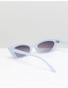 Asos Design Squared Narrow Cat Eye Sunglasses by Asos Design