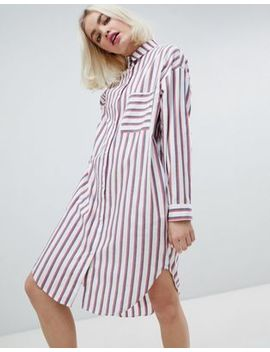 Monki Oversized Stripe Shirt Dress by Monki