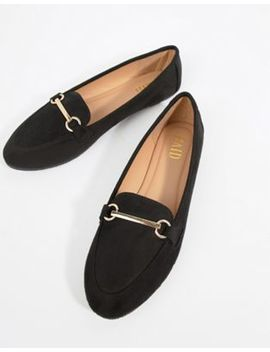Raid Viera Black Snaffle Detail Flat Shoes by Raid