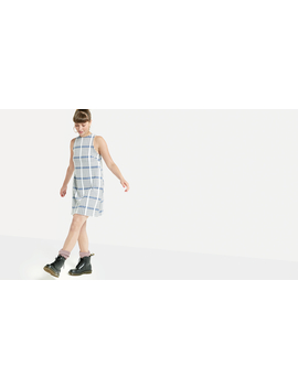 Blue Spencer Sleeveless Check Mini Dress by Nobody's Child