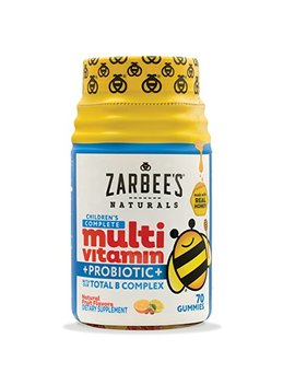 Zarbee's Naturals Children's Complete Multivitamin + Probiotic Gummies Sweetened With Honey Natural Fruit Flavors, With Essential Vitamins For Children... by Zarbee's Naturals