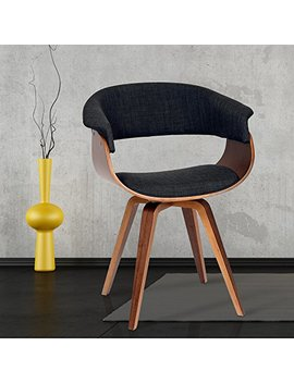 Armen Living Lcsuchwach Summer Chair In Charcoal Fabric And Walnut Wood Finish by Armen Living