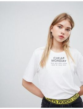 Cheap Monday Chest Logo T Shirt by  Cheap Monday