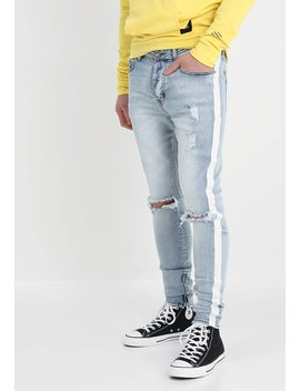 Destroyed With White Bands   Jeans Skinny Fit by Sixth June